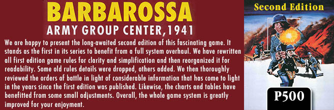 GMT Games - Barbarossa: Army Group Center, 1941, 2nd Edition