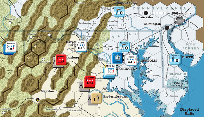 GMT Games The US Civil War - Map of the us in the civil war