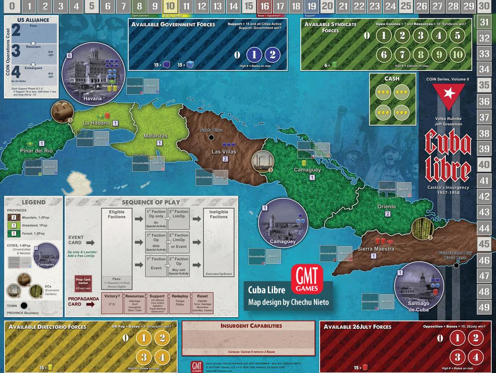 Gmt Games Cuba Libre 3rd Printing