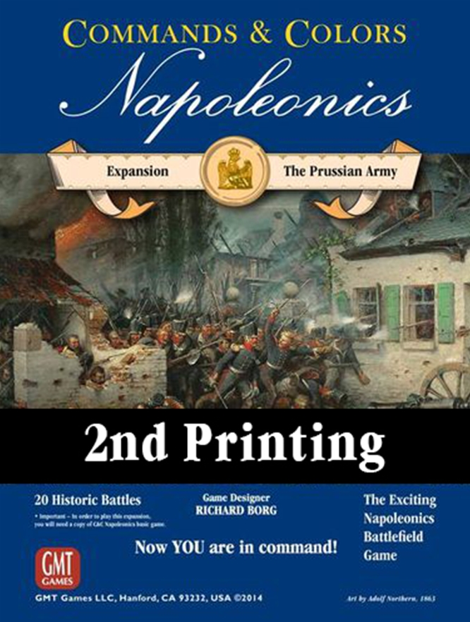 Commands and Colours: Napoleonics Expansion: Prussian Army -  GMT Games