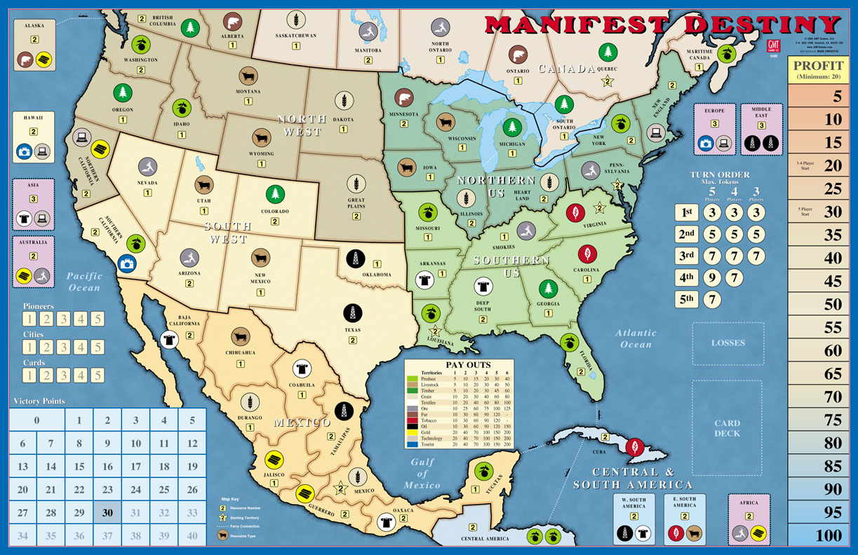 manifest destiny The western man believed in the manifest destiny of his country it at once became apparent to me as a piece of manifest destiny that i must do it.