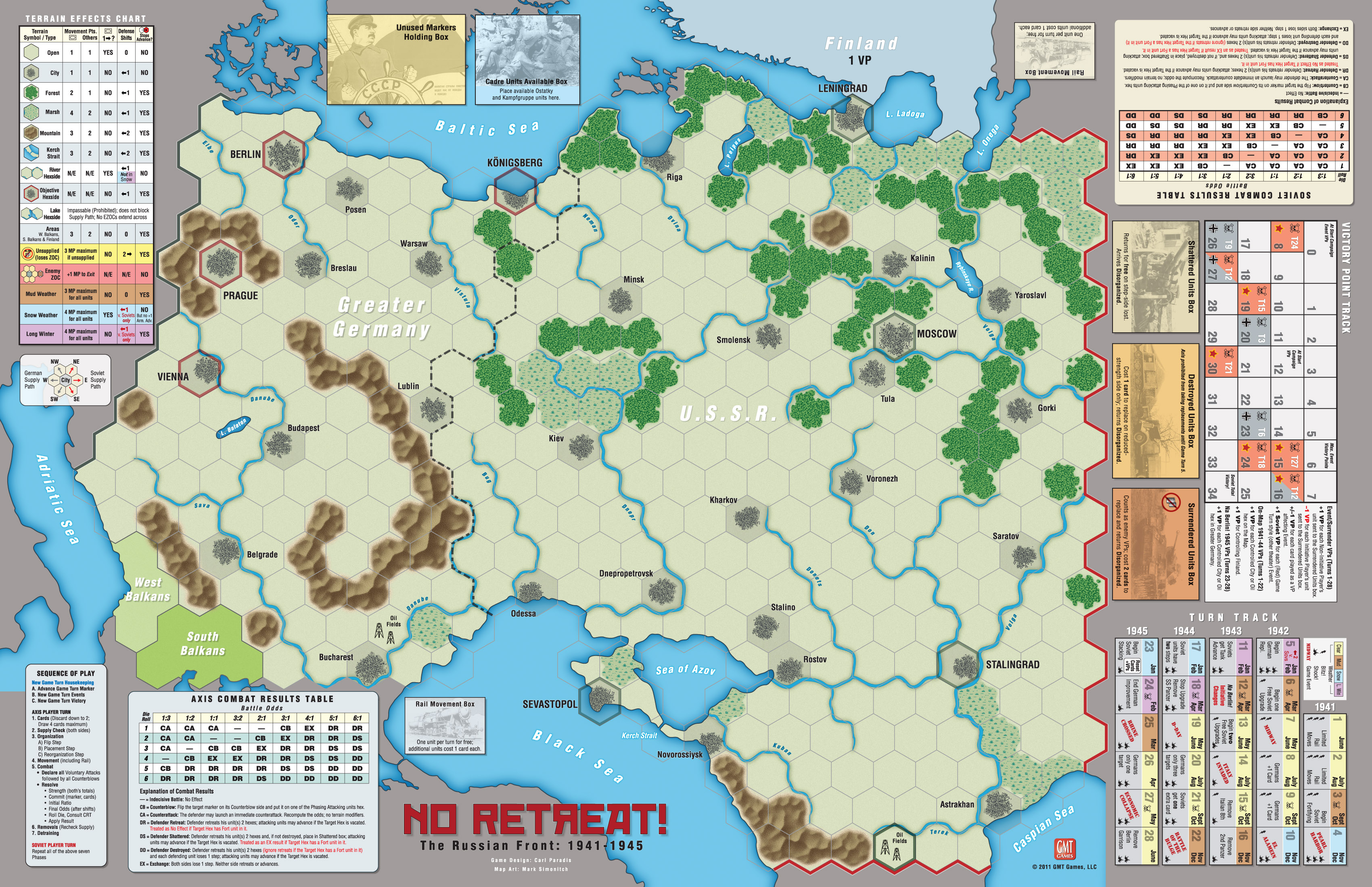 GMT Games No Retreat The Russian Front Deluxe Ed Reprint