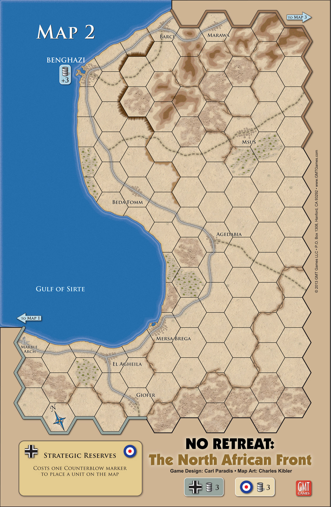 Map Of Africa Games.Gmt Games No Retreat 2 The North African Front Deluxe Edition