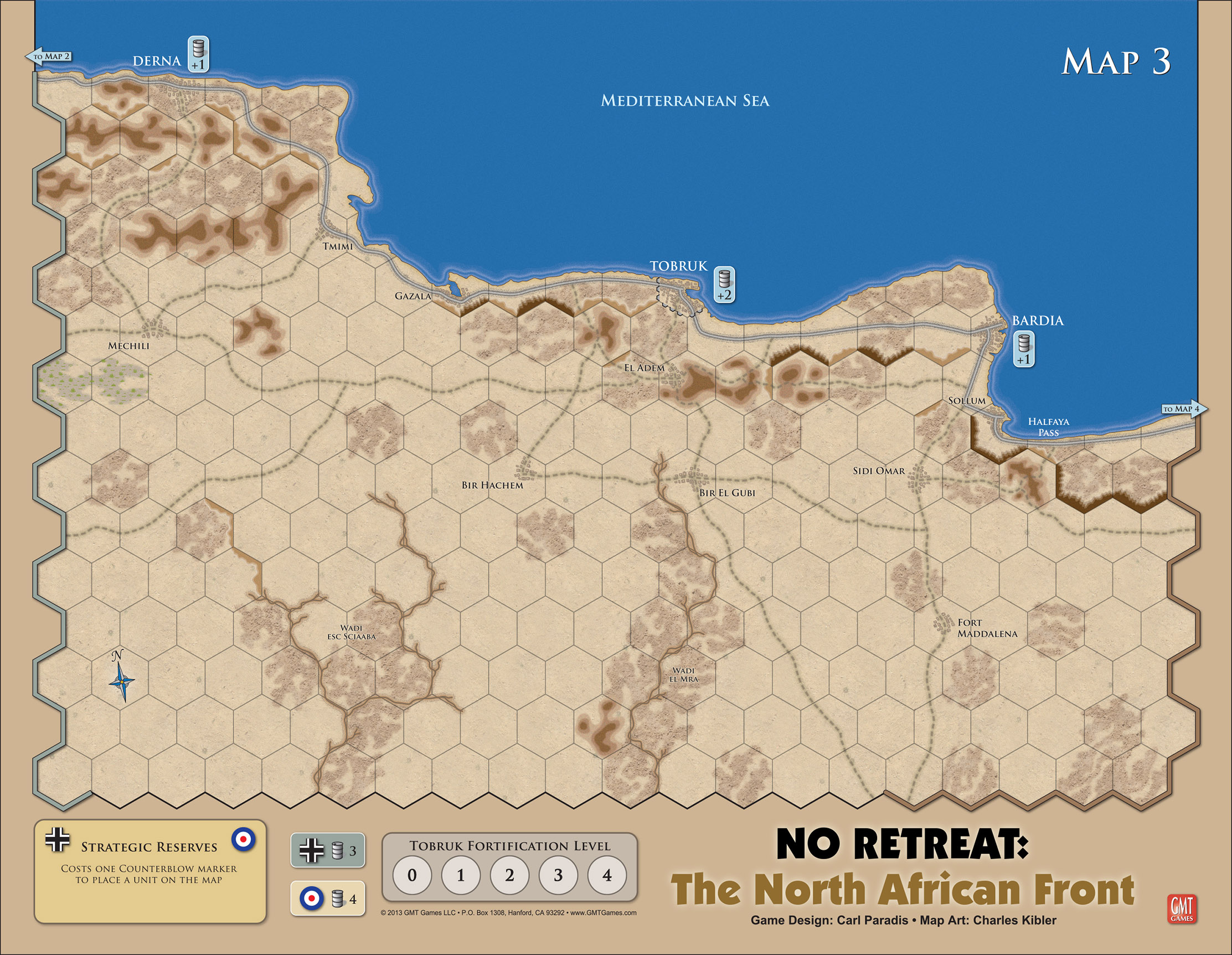 GMT Games - No Retreat! 2: The North African Front, 3rd Edition