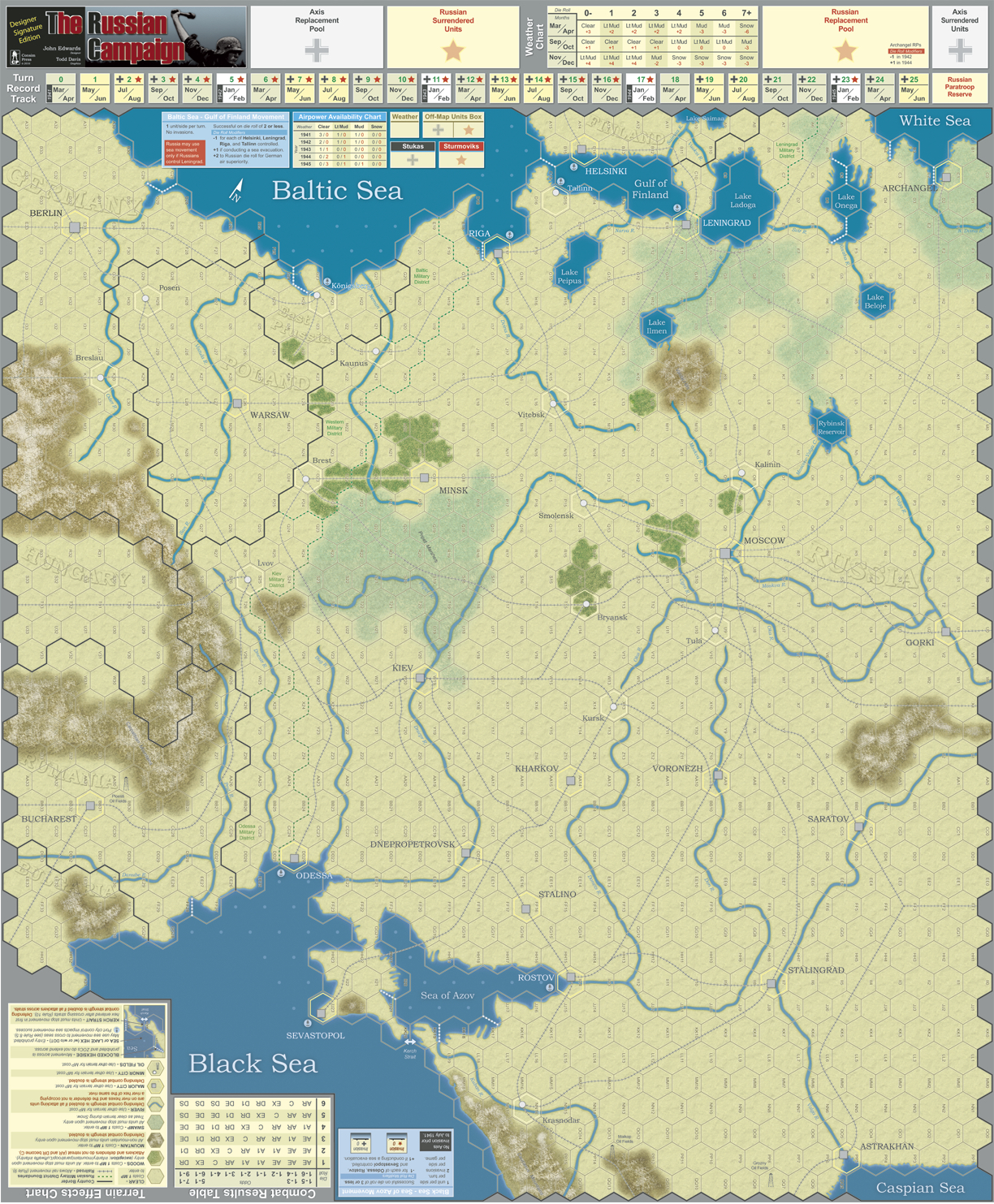 GMT Games - The Russian Campaign Mounted Mapboards (2) on