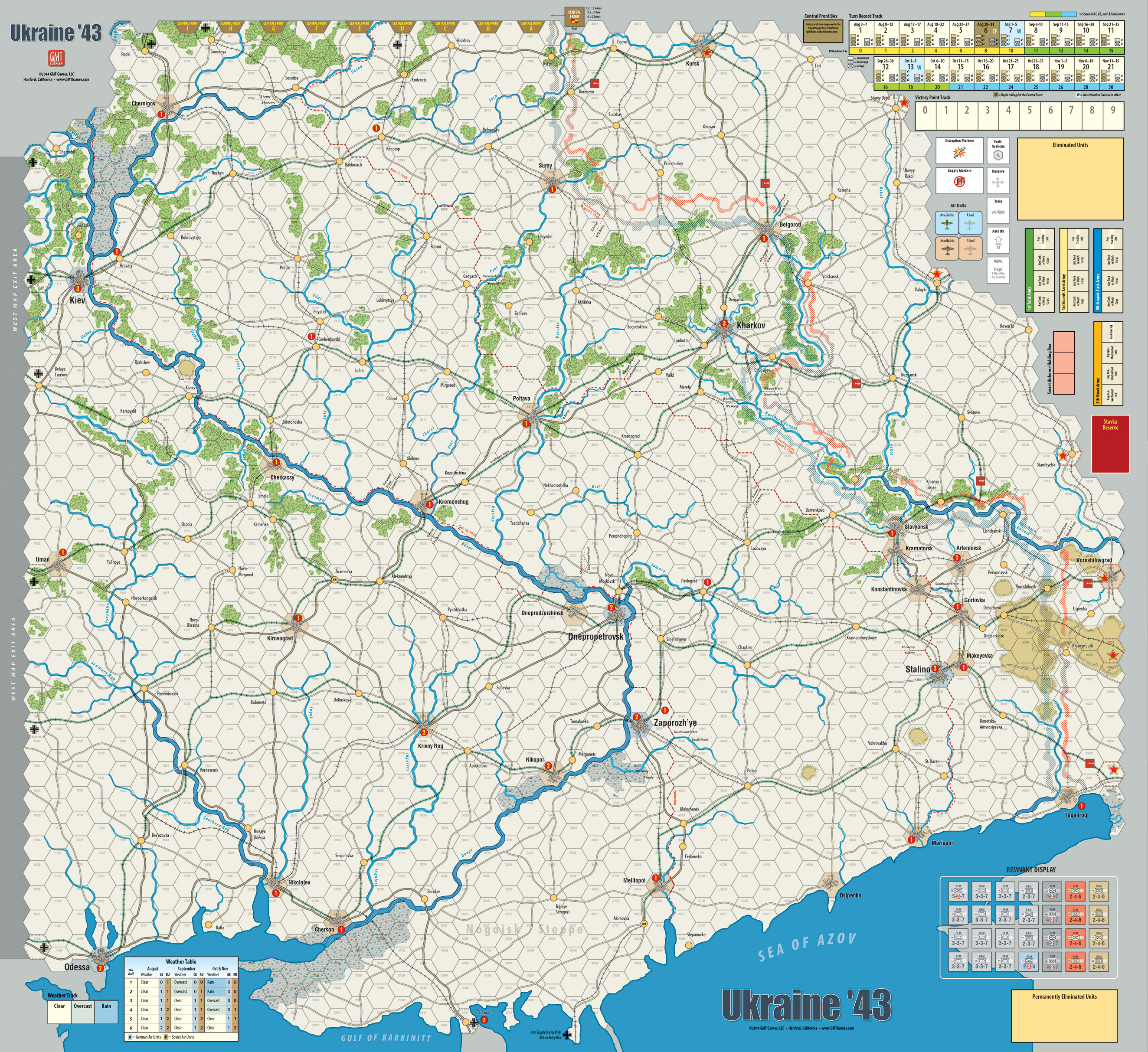 Gmt games ukraine 43 2nd edition game map gumiabroncs Choice Image