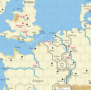 Map Of Europe West.Gmt Games A World At War Map