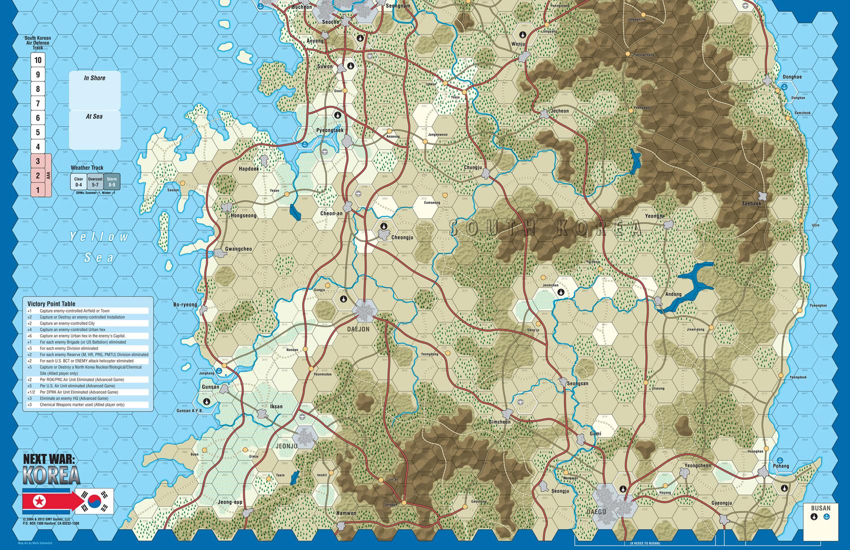 Gmt games next war korea reprint ed vassal near final south map gumiabroncs Image collections