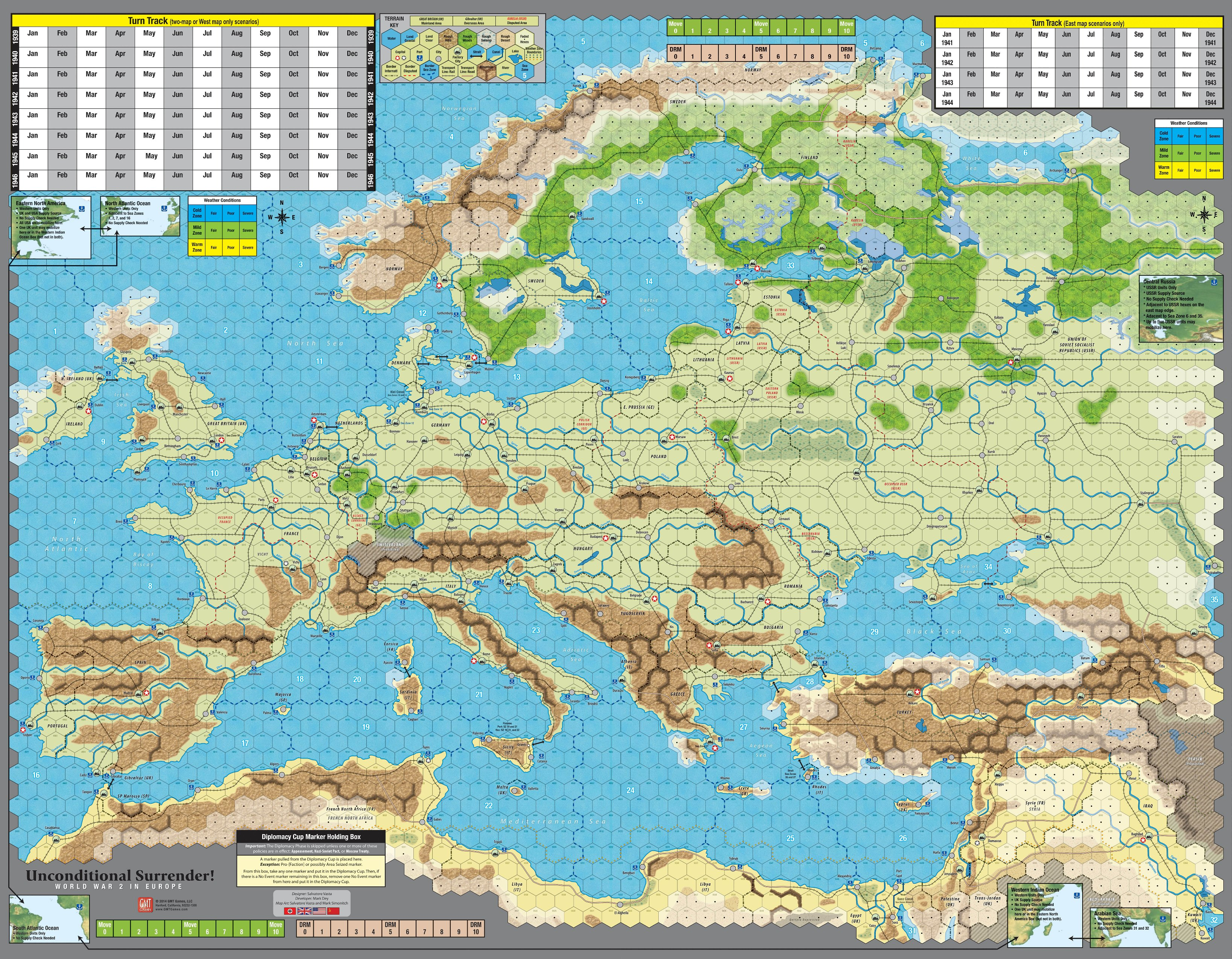 Gmt games unconditional surrender 2nd printing map preview gumiabroncs Images