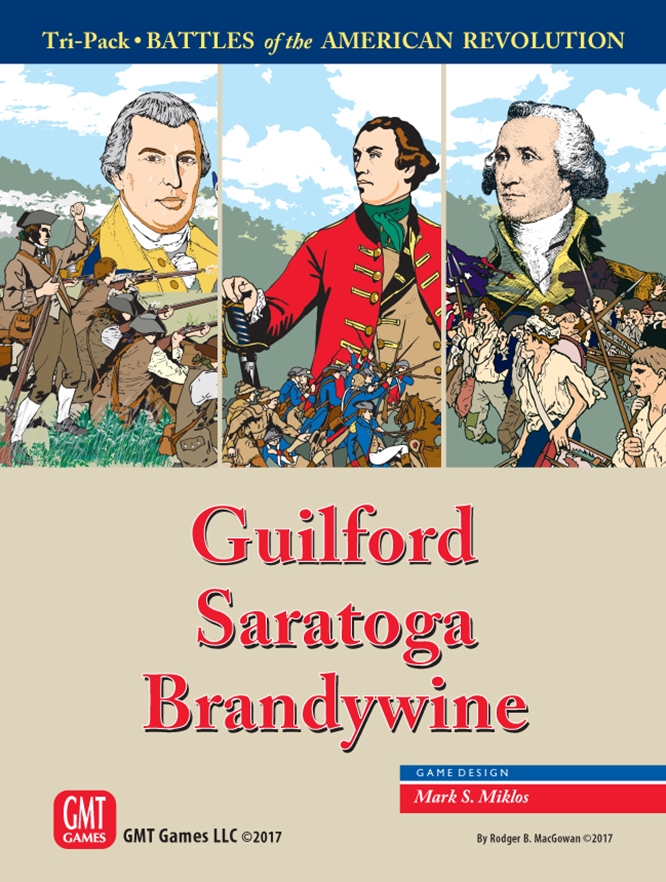 Battles of the American Revolution Tri-Pack: Guilford Saratoga Brandywine -  GMT Games