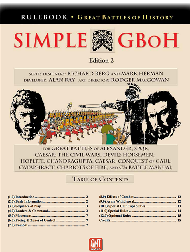 Simple Great Battles of History 2nd edition -  GMT Games