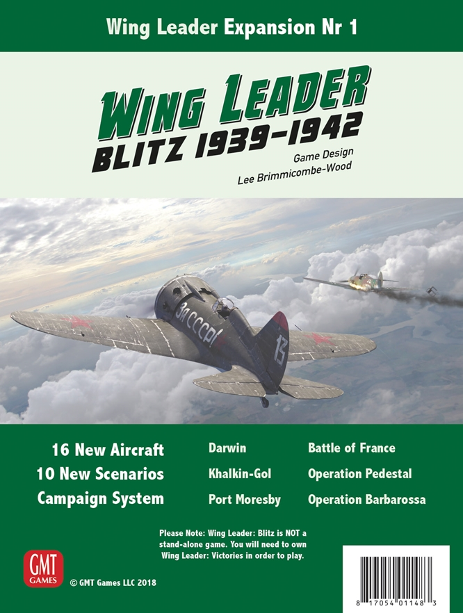 Wing Leader Blitz 1939-1942: Wing Leader Expansion Number 1   -  GMT Games