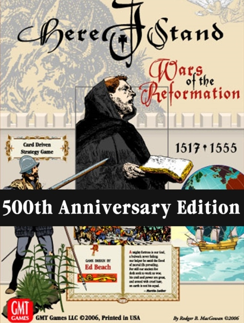 gmt games here i stand 500th anniversary reprint edition