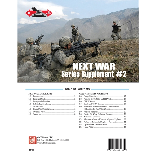 Next War Supplement 2 -  GMT Games
