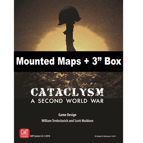 """GMT Games - Cataclysm Mounted Maps + 3"""" Box on"""