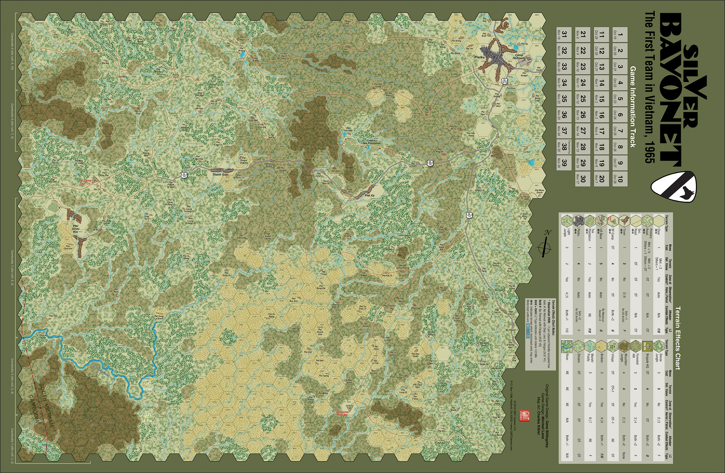 Gmt games silver bayonet 25th anniversary edition game map gumiabroncs Images